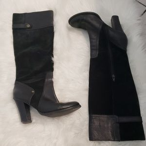 Nine West Shoes - Nine west miley black suede and leather boots